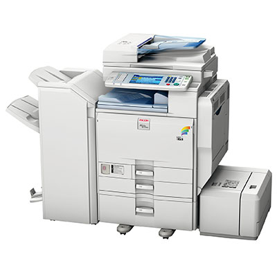 Impressora Ricoh Aficio mpc3001, mais uma impressora, copiadora ou multifuncional alugada pela TTG através do modelo de outsourcing e locação
